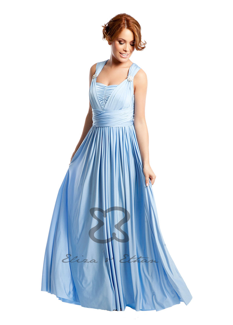 Diva Eliza and Ethan Wrap Dress Dress Style Baby Blue 1