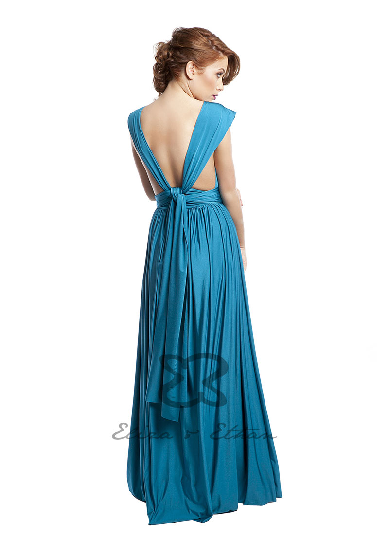 Diva Eliza and Ethan Wrap Dress Dress Style Blue Lagoon 0