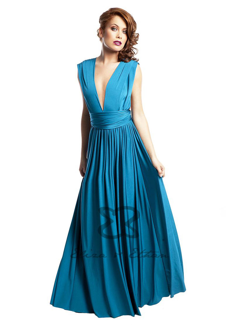 Diva Eliza and Ethan Wrap Dress Dress Style Blue Lagoon 1